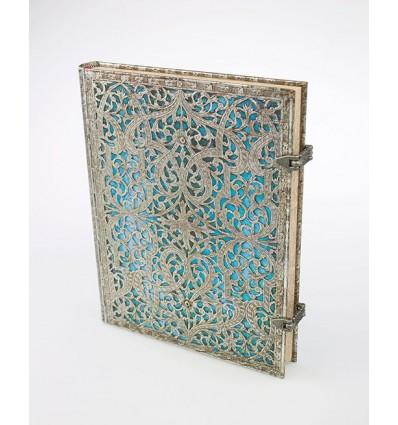 Livre d'Or Filigrane Argenté Turquoise - Vertical