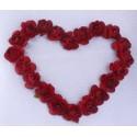 Coussin porte-alliances - Mon Cœur en fleurs