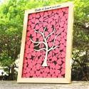 Livre d'Or « Cadre Cœurs » en Bois - 3 Coloris
