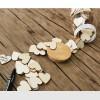 Livre d'Or « Bocal » avec Cœurs en Bois