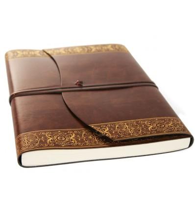 Luxueux Livre d'Or en Cuir « Le Charme Celtique »