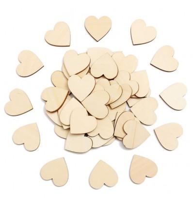 Cœurs en Bois - 30 mm