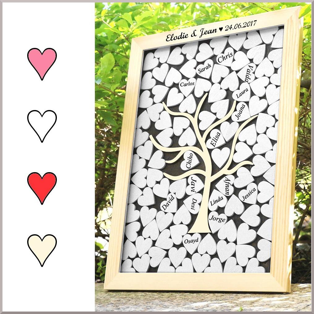 Livre D Or Cadre Avec Cœurs Colles Grand 38 5 X 31cm