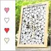 Livre d'Or « Cadre Cœurs » en Bois