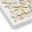 Véritable Livre d'Or « Cadre » avec Cœurs en Bois à glisser