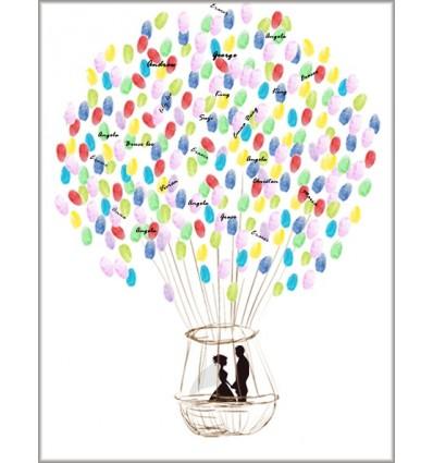 montgolfiere a empreinte