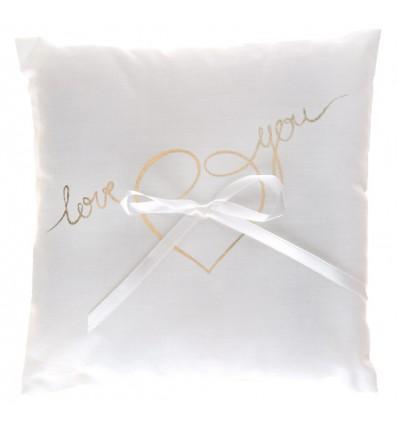 Coussin d'alliances « Love you »