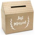Urne de Mariage « Just Married » - Kraft