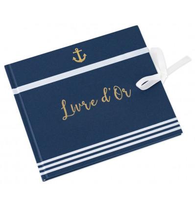 Livre d'Or « Marinière » - Bleu marine & Blanc
