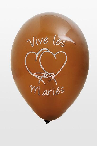 ballon mariage marron