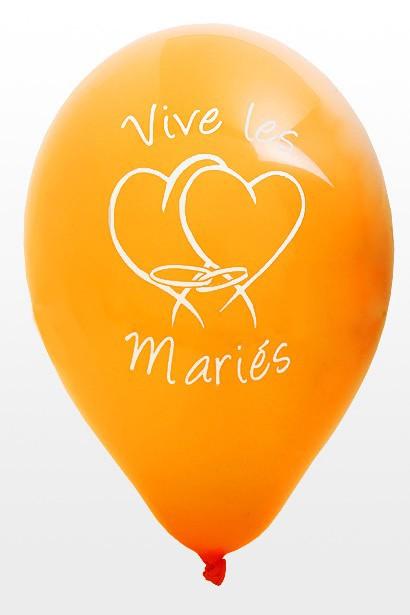 ballon mariage orange