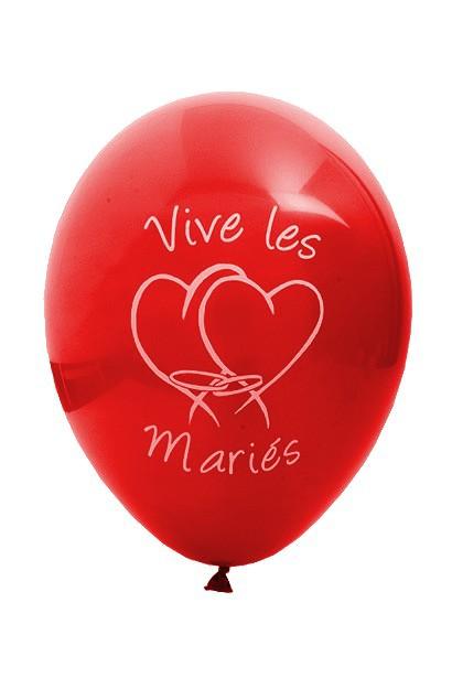 ballon mariage rouge