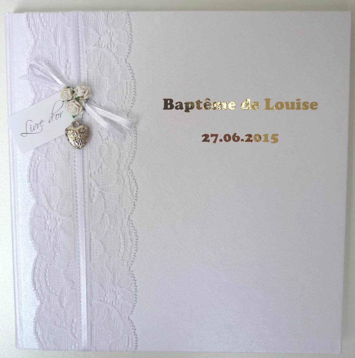 Livre d'Or de Baptême personnalisé